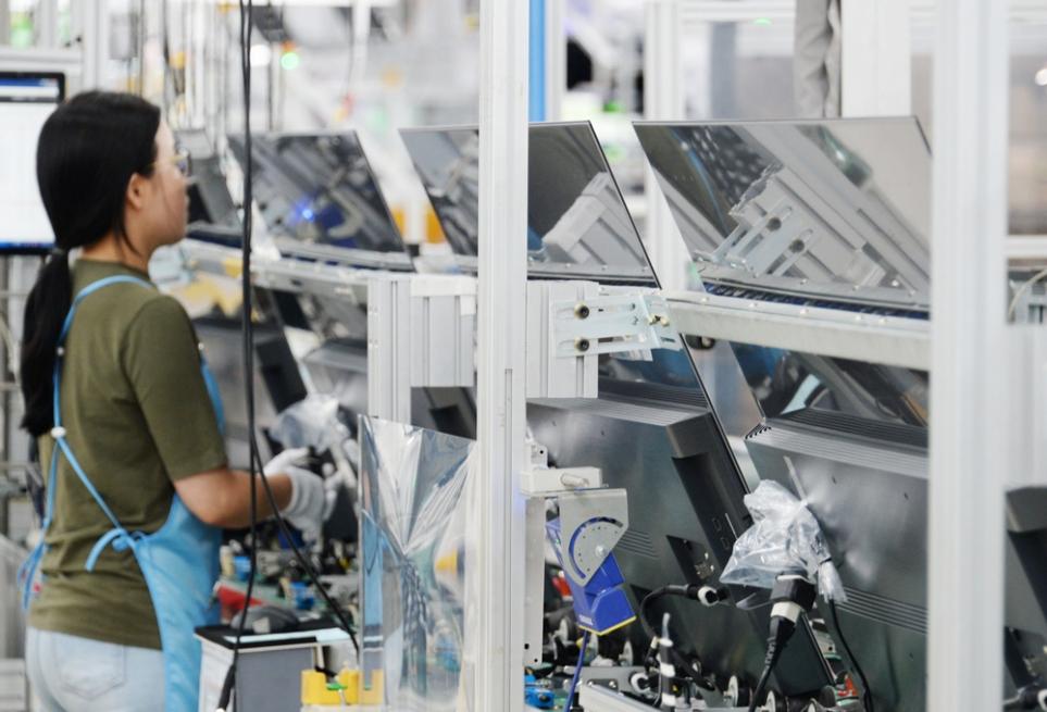 LG 올레드 TV가 생산되는 구미 사업장 A3 공장