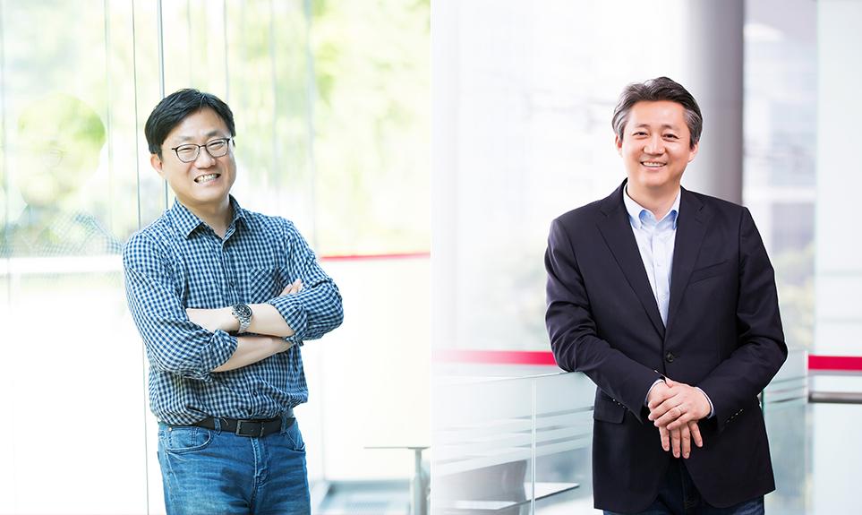 LG전자 박영기 컨텐츠/서비스팀장(왼쪽)과 김형진 스마트홈사업개발실장(오른쪽)
