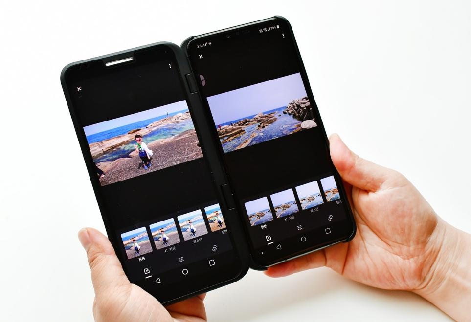촬영 후에는 듀얼 뷰 기능 활용-원본 사진과 보정 후 사진을 동시에