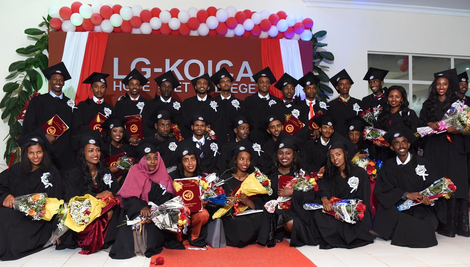 LG전자가 1일 에티오피아 수도 아디스아바바에 있는 「LG-KOICA 희망직업훈련학교」에서 '제3회 LG-KOICA 희망직업훈련학교 졸업식'을 개최했다.