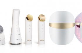 LG 프라엘 플러스 신제품 4종 및 초음파 클렌저(맨 왼쪽) 제품 이미지