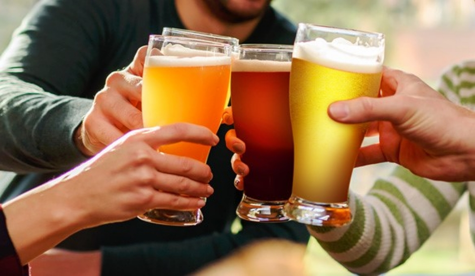 맥주 건배 사진