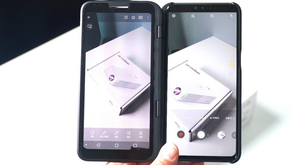 LG V50 ThinQ와 듀얼 스크린 활용 시 카메라 및 갤러리 기능 편리