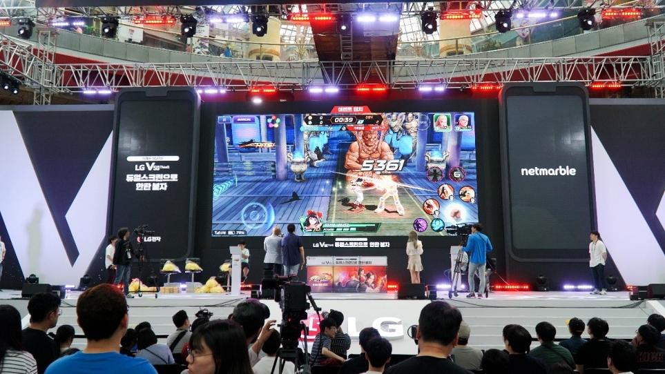 킹 오브 파이터 올스타 게임 대회 장면