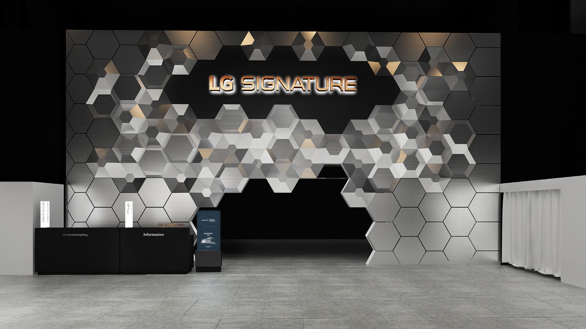 LG전자와 이탈리아 유명 건축가 '마시밀리아노 푹사스'가 다음 달 독일 베를린에서 열리는 IFA 2019에서 선보일 LG 시그니처 부스의 컨셉 이미지