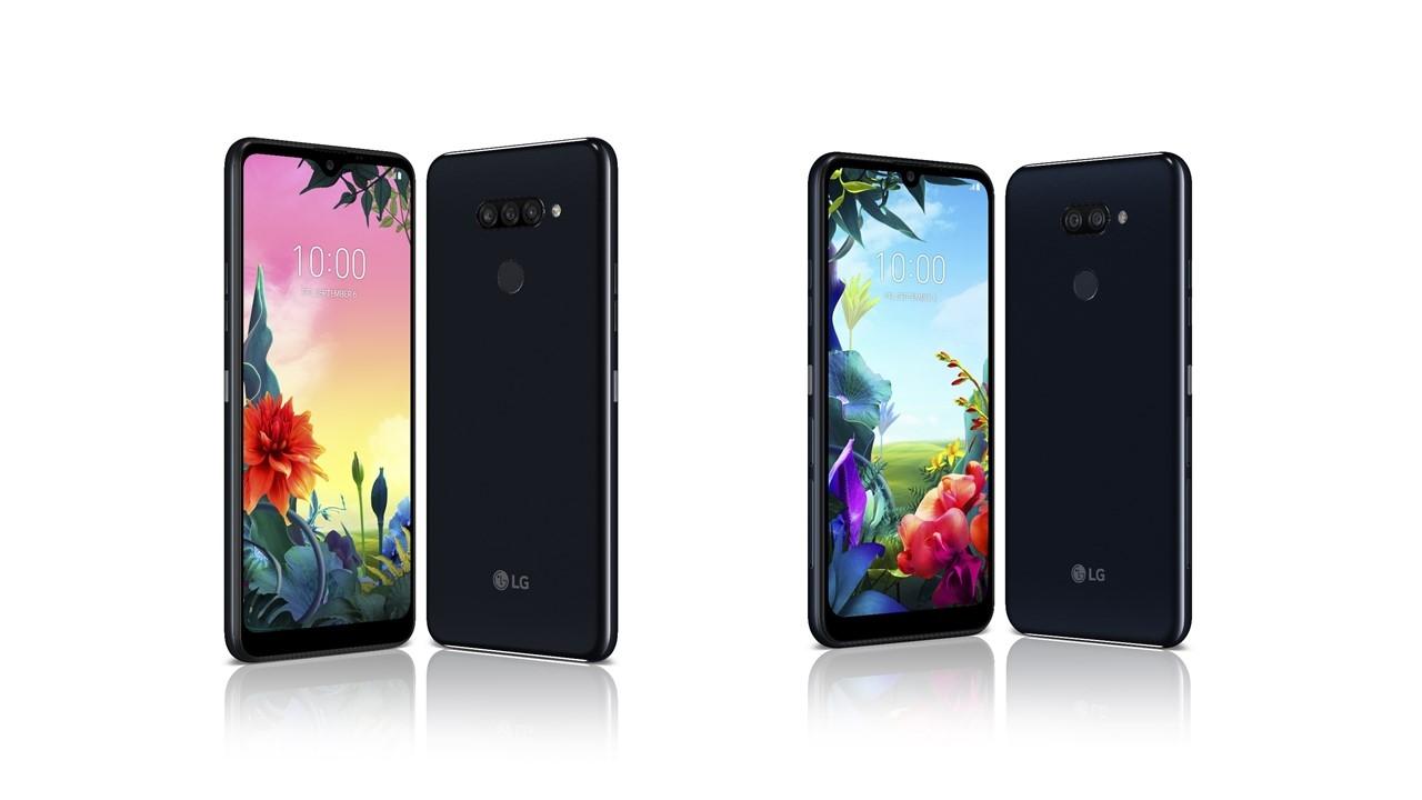 LG전자가 내달 독일 베를린에서 열리는 IFA 2019에서 대화면, 멀티카메라, 대용량 배터리 등 최신 스마트폰 트렌드를 담아낸 경쟁력 있는 실속형 스마트폰 2종을 글로벌 공개한다. 사진 왼쪽부터 LG K50S, LG K40S.
