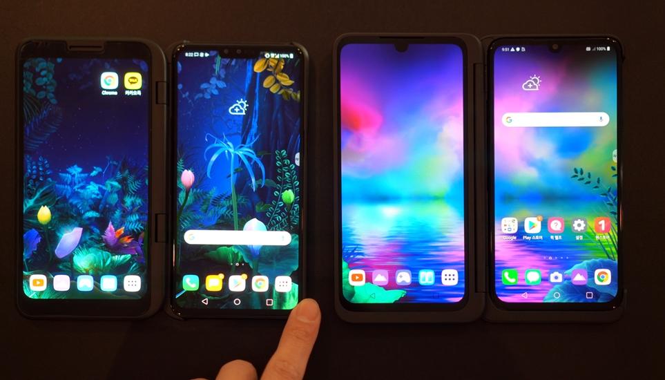 LG 듀얼 스크린을 장착한 LG V50 ThinQ와 업그레이드된 LG 듀얼 스크린을 장착한 LG V50S ThinQ 비교