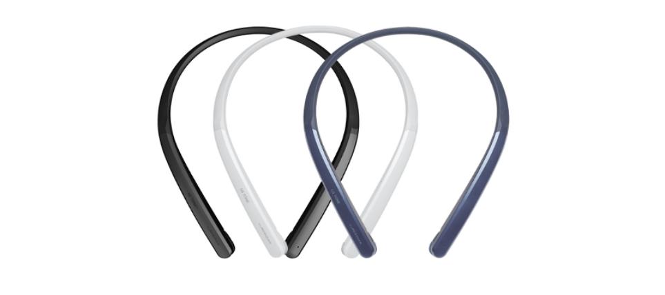 왼쪽부터 LG 톤플러스 HBS-PL7 메탈블랙, 글로시화이트, 스파클링네이비