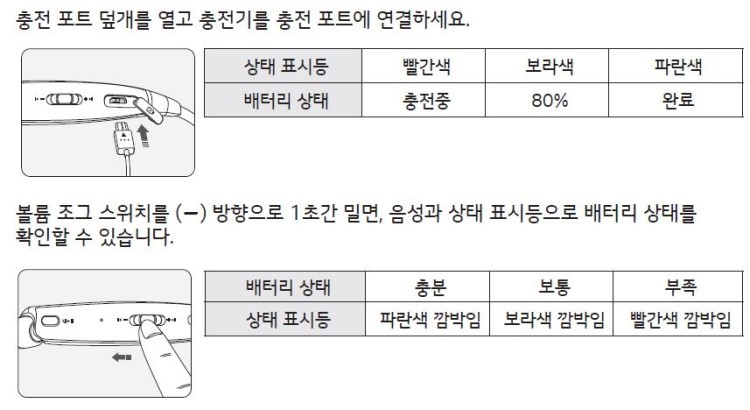 LG 톤플러스 충전 방법 가이드