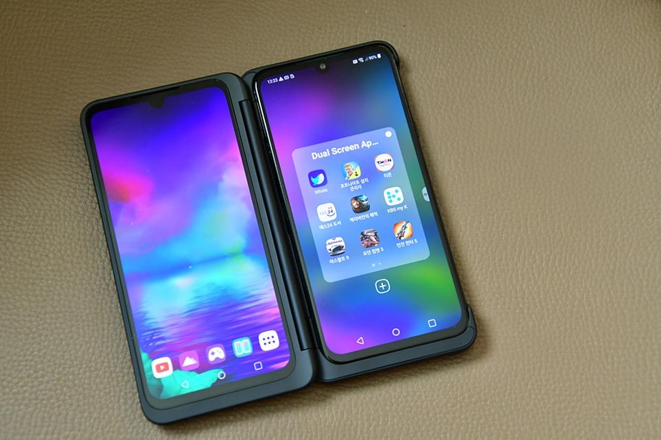 LG V50S ThinQ와 듀얼 스크린 제품 이미지