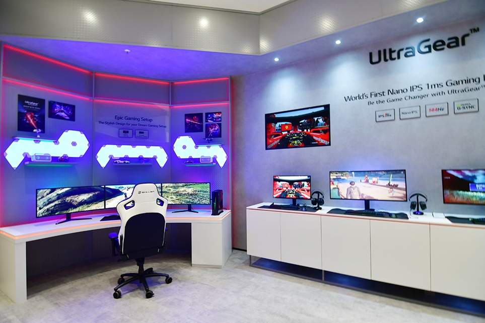 IFA 2019에 조성한 울트라기어(UltraGear) 부스