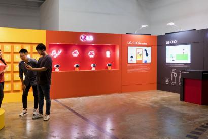 LG전자가 7일부터 이틀간 '2019 광주디자인비엔날레'에 에서 팝업 전시관을 운영한다. 사진은 LG전자 부스 전경.