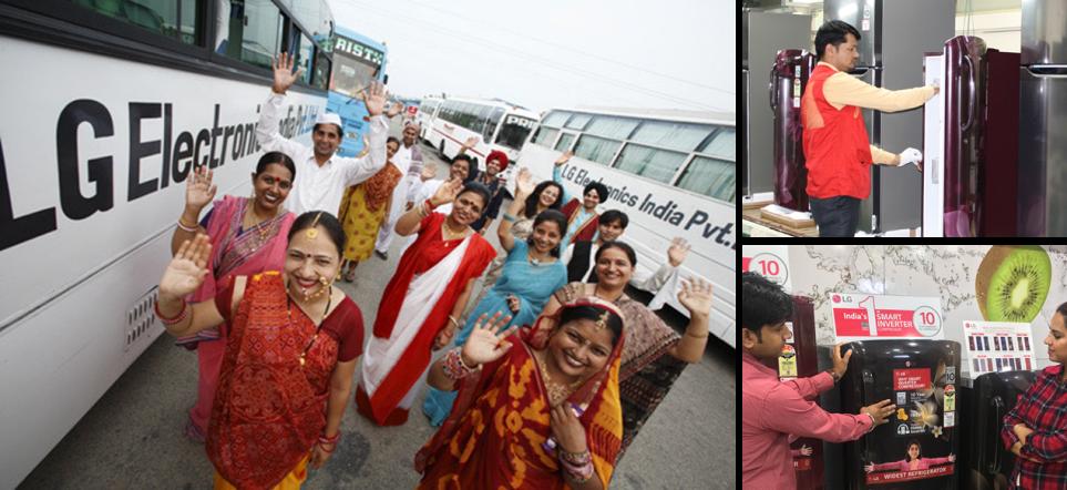 인도에서 활약하고 있는 LG전자와 현지인들의 모습