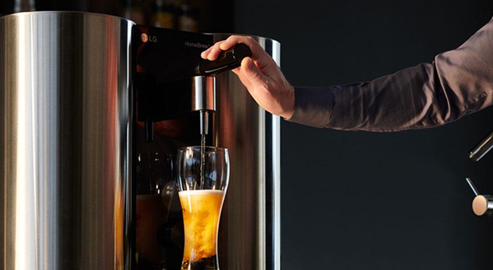 LG 홈브루로 완성된 수제 맥주