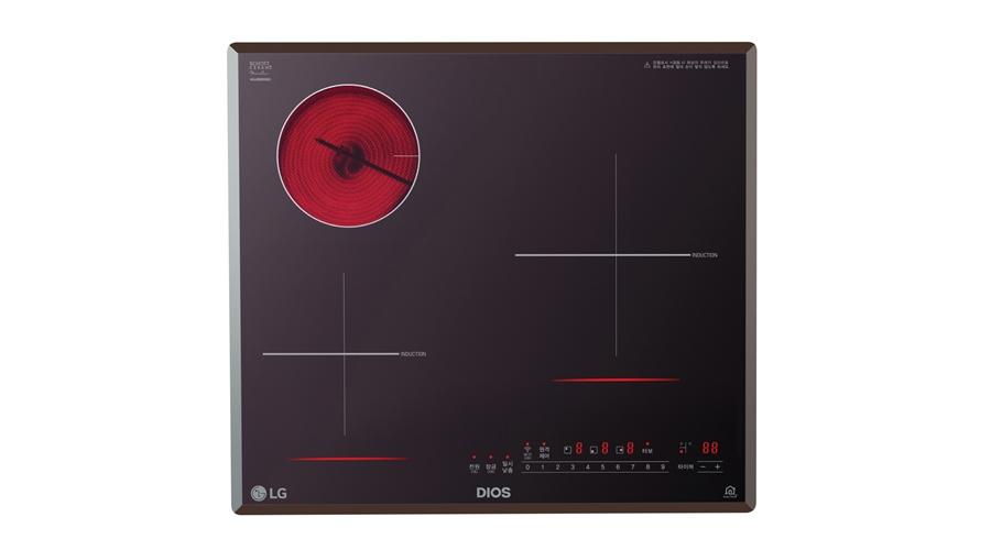 LG 디오스 하이브리드 전기레인지 제품 사진.