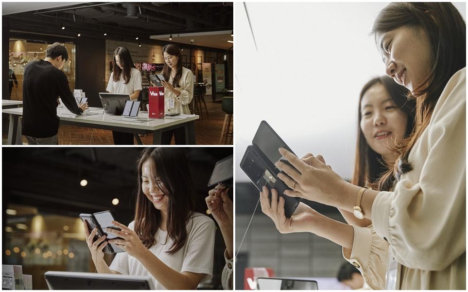 LG V50S ThinQ 체험존 체험 모습