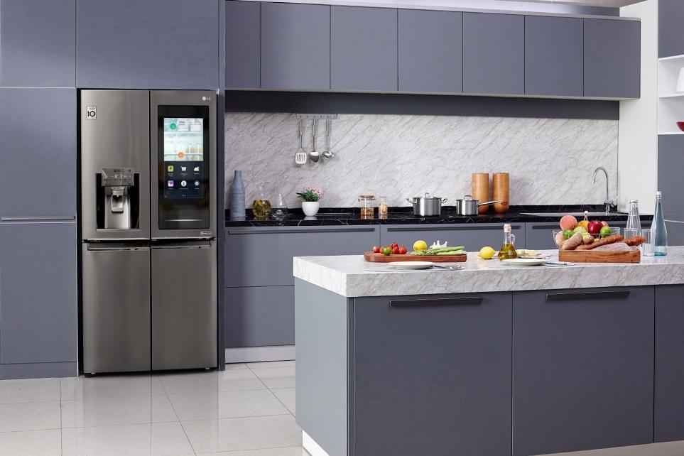 LG 노크온매직스페이스 냉장고 이미지