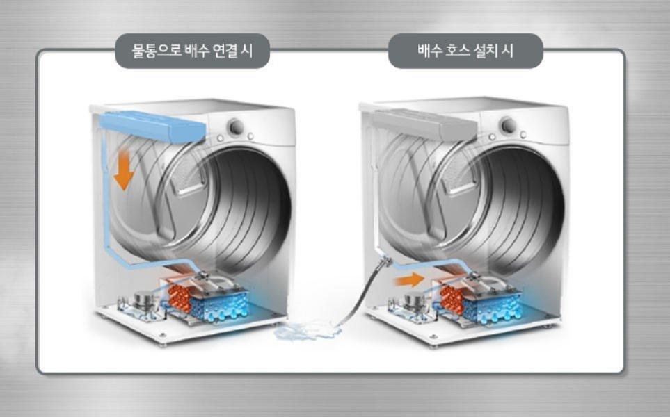 LG전자 의류건조기 잔수 배출 구조 이미지