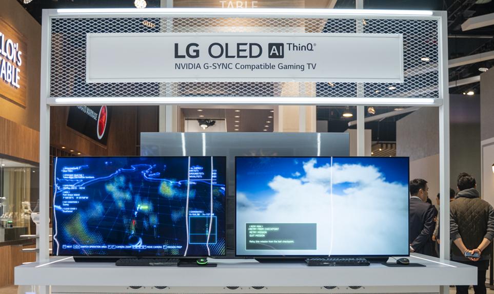 CES 2020에서 선보인 LG 올레드 TV 전시 전경 2