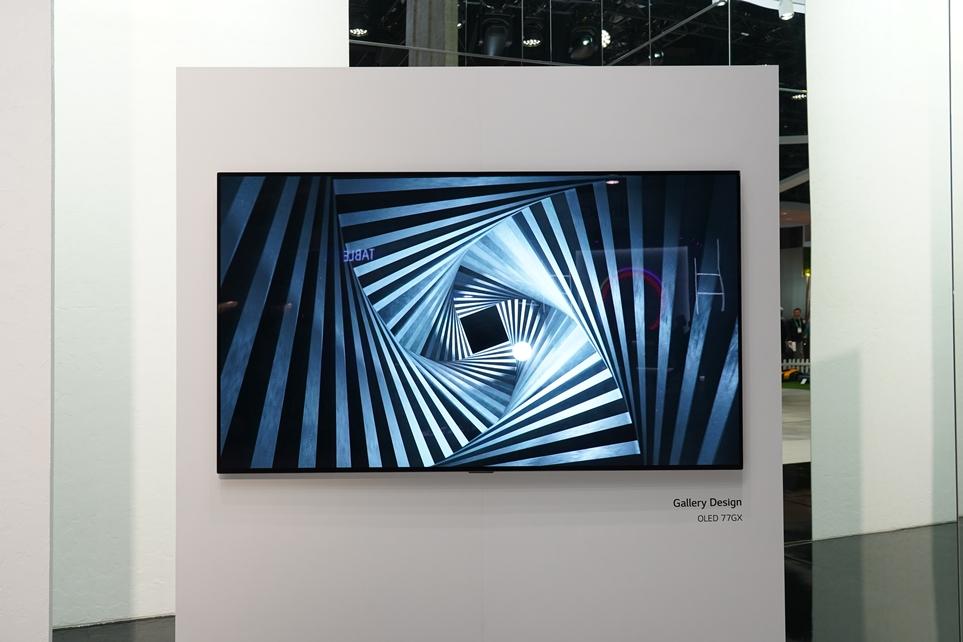 CES 2020에서 선보인 LG 올레드 TV 전시 전경 3