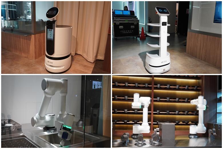 CES 2020 LG전자 부스 '클로이 테이블'의 다양한 클로이 로봇 모습