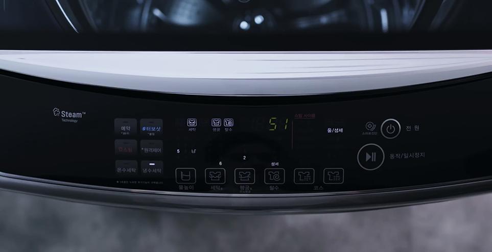 LG 통돌이 세탁기 코스 선택 이미지
