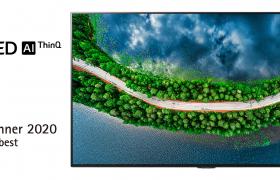 LG전자가 세계적 권위의 레드닷 디자인 어워드에서 최고상을 포함해 총 19개 상을 받았다. TV 전체를 벽에 밀착시키는 '갤러리 디자인'을 적용한 LG 올레드 TV는 최고상을 받았다. 사진은 최고상을 받은 LG 올레드 TV(모델명: GX)
