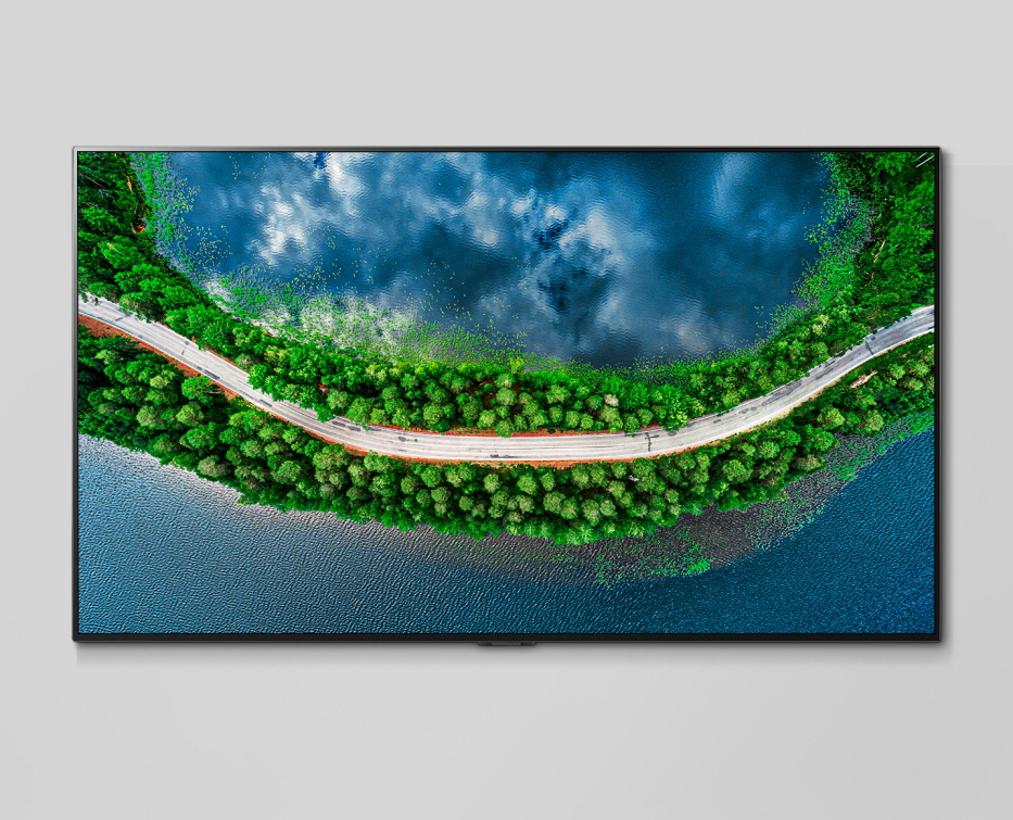 LG전자가 2020년형 LG 올레드 AI ThinQ를 글로벌 시장에 본격 출시했다. 모델들이 갤러리 디자인을 적용한 신제품(모델명: GX)을 소개하고 있다.