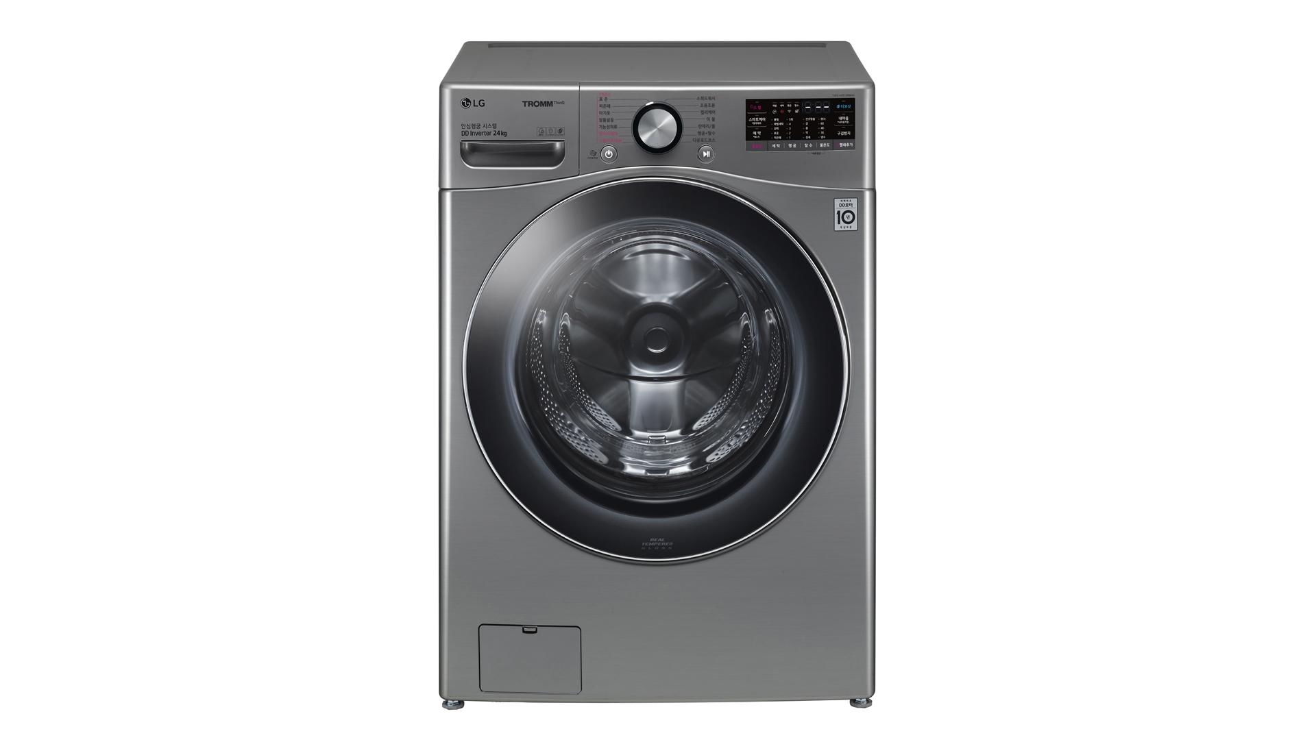 LG전자는 양이 많거나 부피가 큰 빨래도 한 번에 세탁할 수 있는 인공지능 DD(Direct Drive)세탁기 'LG 트롬 세탁기 씽큐'(모델명: F24VDD)를 이번 주말 출시한다.
