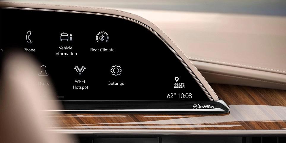 2021 캐딜락 에스컬레이드에 탑재된 LG전자 P-OLED 디스플레이