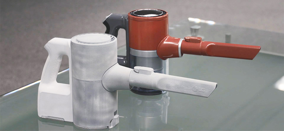 3D 프린터를 통해 제작한 청소기 모형