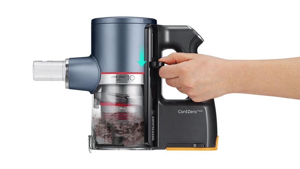 LG 코드제로 A9S 씽큐 먼지통 간편 비움 시스템 레버