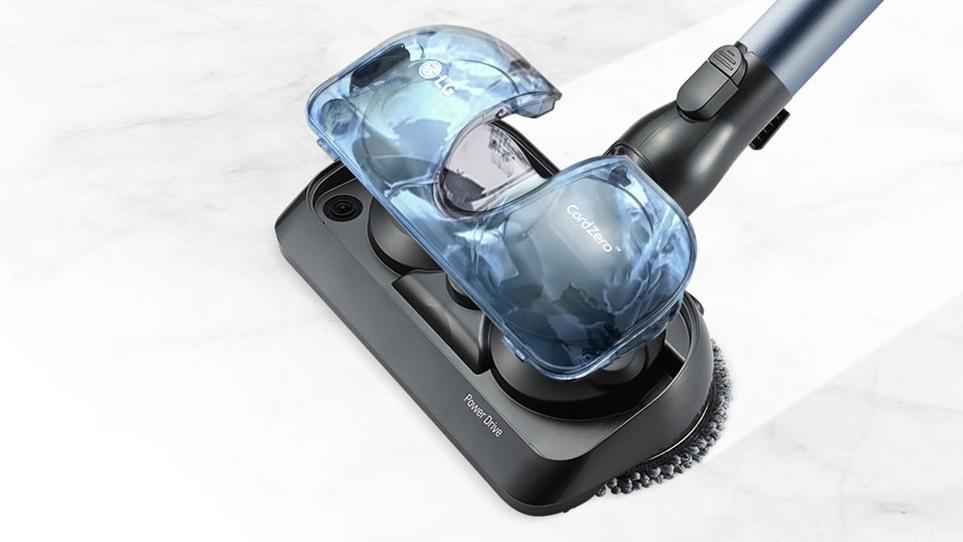 물걸레 청소를 동시에 할 수 있는 LG 코드제로 A9S 씽큐 헤드