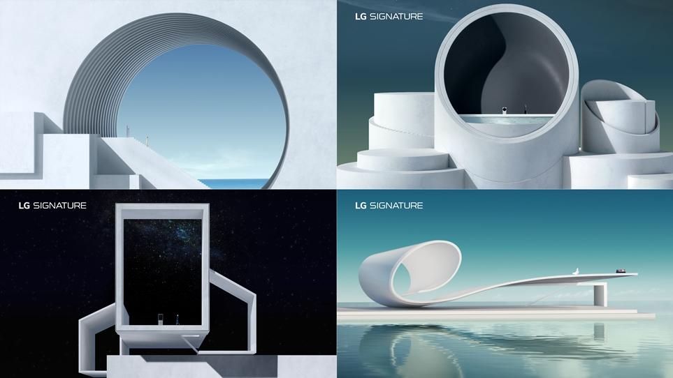 LG 초 프리미엄 가전 LG 시그니처 광고 이미지
