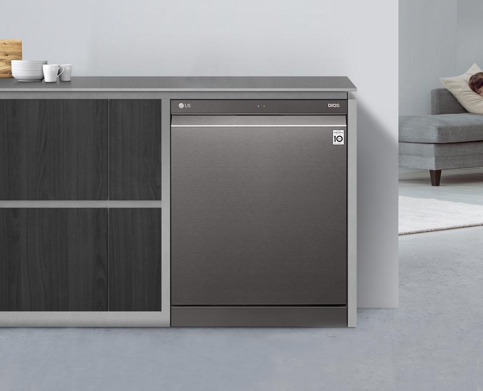 LG 디오스 식기세척기를 설치한 주방 이미지