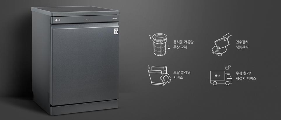 LG 디오스 식기세척기 케어솔루션 그래픽 이미지