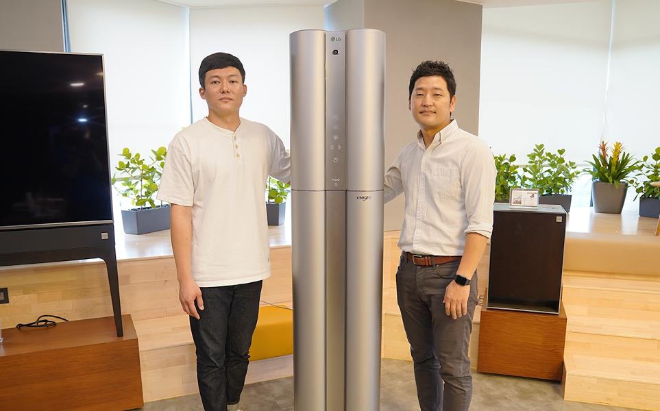 2020년형 LG 휘센 씽큐 에어컨와 개발자