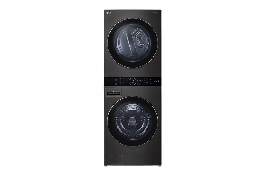 LG전자가 지난 4월 국내에 선보인 원바디 세탁건조기 'LG 트롬 워시타워(해외 제품명: LG 워시타워)'를 내달 말 미국을 시작으로 내년 상반기까지 중국, 프랑스, 캐나다 등 10개 국가에 출시한다. 'LG 워시타워'의 제품 사진