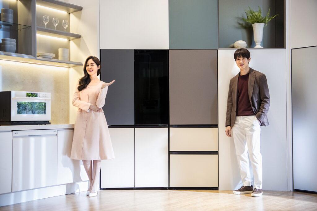 새 공간 인테리어 가전 'LG Objet Collection'과 배우 유연석, 배우 성유리