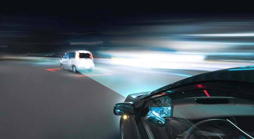 AR 기술을 활용해 주행하는 차량 가상 이미지