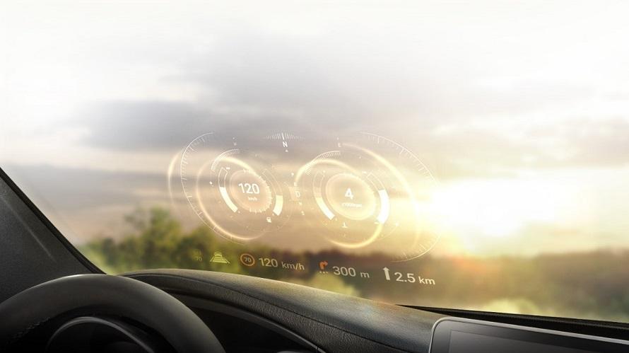 LG전자가 개발한 자동차부품 AR기술 'HUD' 가상이미지