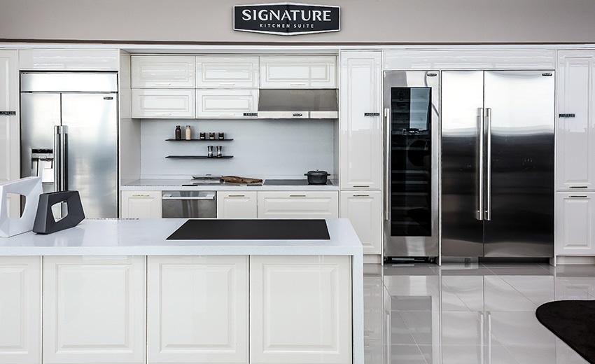 주방의 완벽한 동선과 최상의 효율적 공간을 제안하는 '시그니처 키친 스위트 빌트인' 쇼룸
