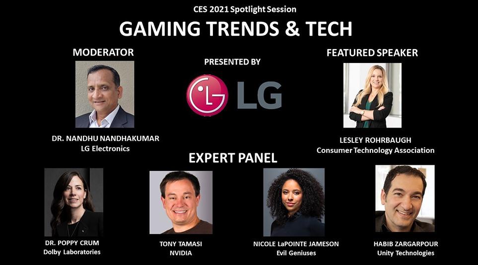 Game Trends & Tech 세션에 참여한 패널들