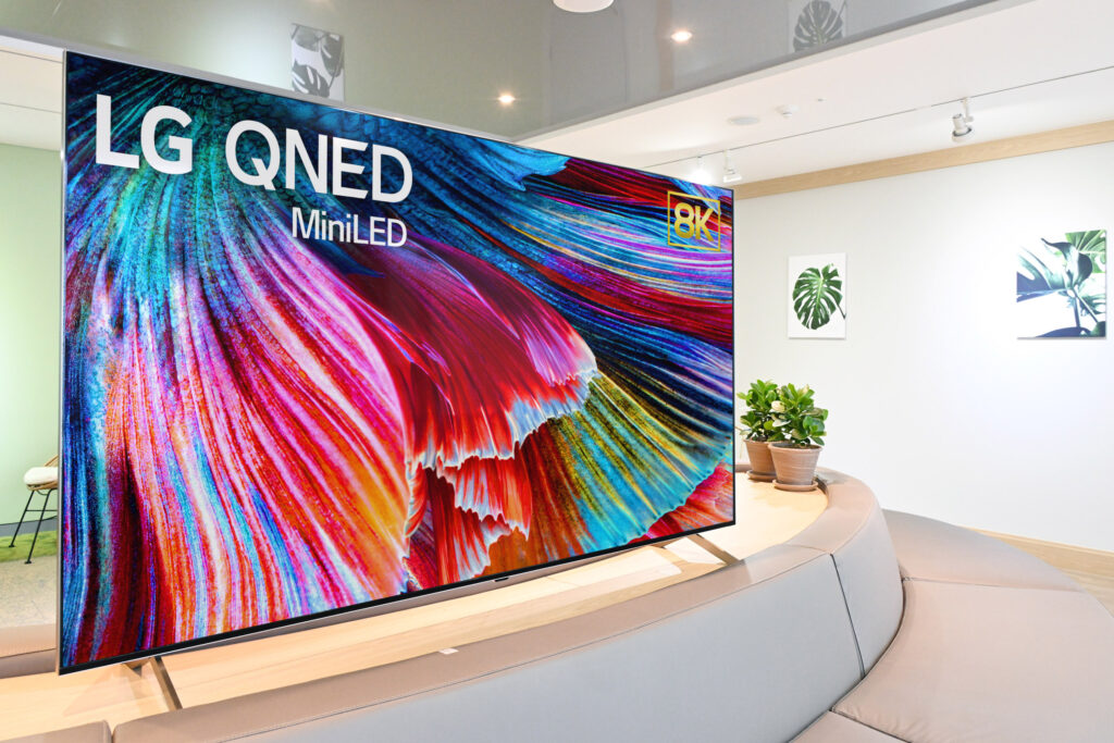 CES 2021을 통해 소개된 LG QNED 미니 LED TV