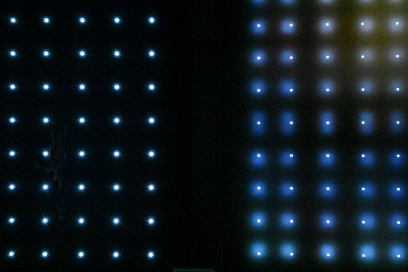 OLED(왼쪽)는 QNED MiniLED(오른쪽) 보다도 정교한 표현능력을 갖춘 모습 (출처=IT동아)