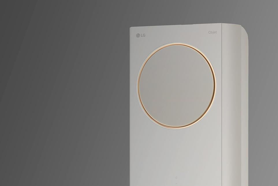 자연의 감성을 더해주는 LG 휘센 타워 에어컨 원형 무드 라이팅