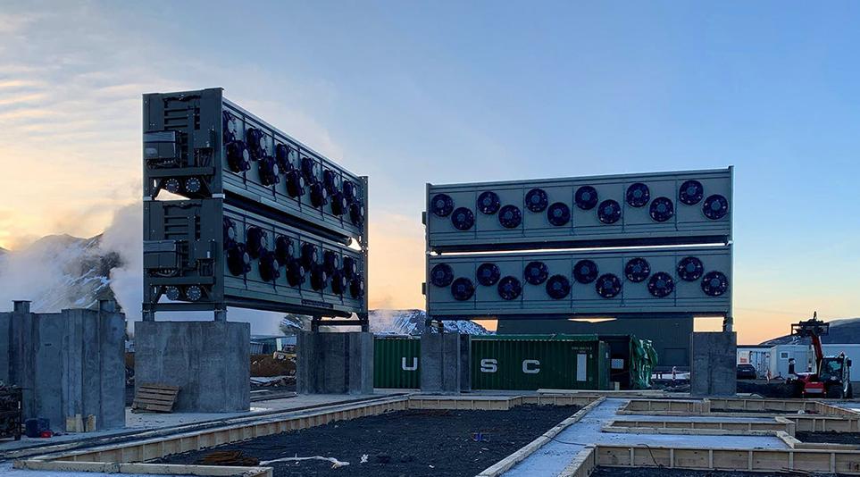 공기 중 이산화탄소를 선택적으로 제거하는 오르카 공장