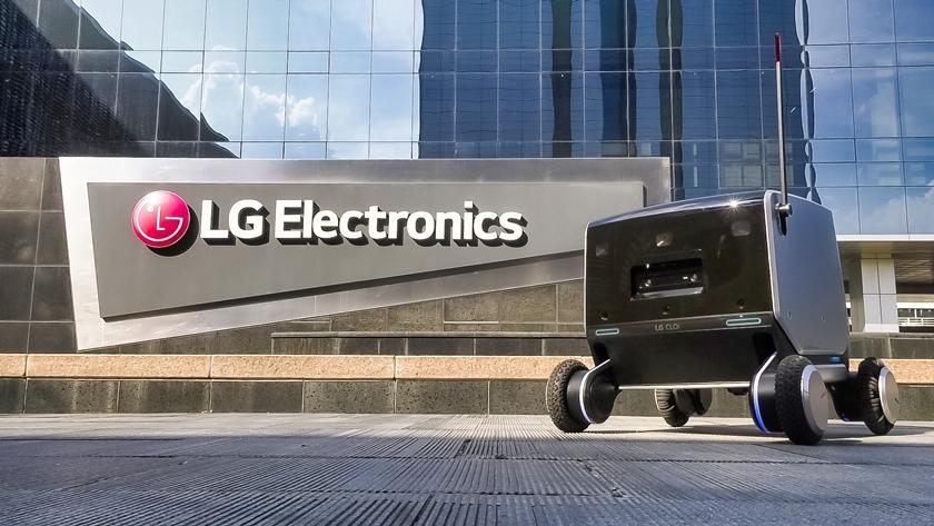 LG전자가 개발한 실내외 통합배송로봇