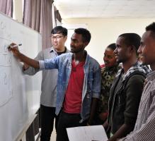 한글 배우는 에티오피아 참전용사 후손들