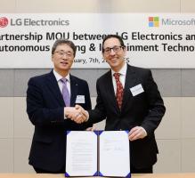 LG전자-마이크로소프트, 인공지능 자율주행 SW 개발 MOU 체결